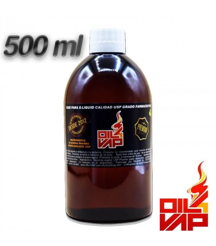 BASE 500ML (SIN NICOTINA) - OIL4VAP